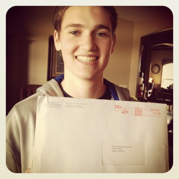 Getting his mission call