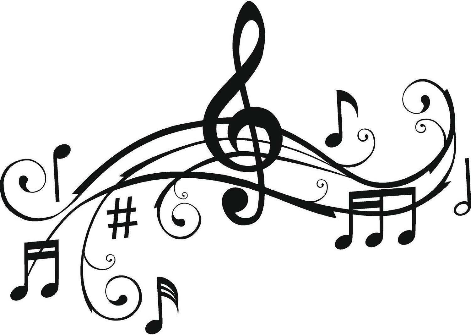 Music Notes Coloring