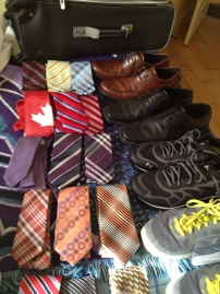 Ties & shoes lined up.