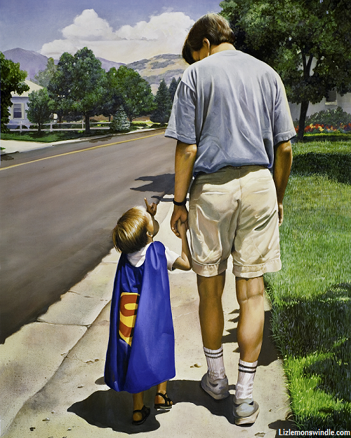 Even Superman Needs a Dad-- Liz Lemon Swindle