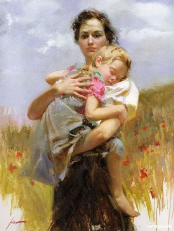 Mother-and-Child-Painting